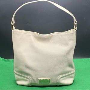 Oroton Large Cream Leather Hobo Bag